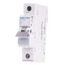 Автоматический выключатель MС 125 25А  1п, С, 6кА 1м