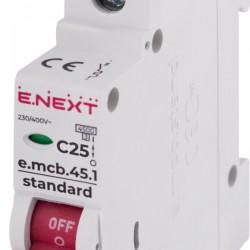 Автоматический выключатель e.mcb.stand.45.1.C25 1п 25А С