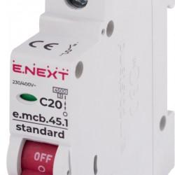 Автоматический выключатель e.mcb.stand.45.1.C20 1п 20А С