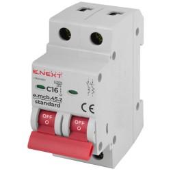 Автоматический выключатель e.mcb.stand.45.2.C16 2п 16А С
