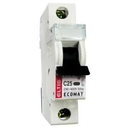 Автоматический выключатель ЕСОМАТ С 1p 25А
