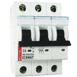 Автоматический выключатель ЕСОМАТ C 3p 6А 10kA
