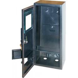 Корпус e.mbox.stand.n.f1.6.z.str металлический, под 1-ф. счетчик, пуста, навесной, 6 мод., с замком, уличная