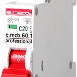 Автоматический выключатель e.mcb.pro.60.1.C 20 new, 1р, 20А, C, 6кА