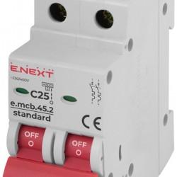 Автоматический выключатель e.mcb.stand.45.2.C25 2п 25А С