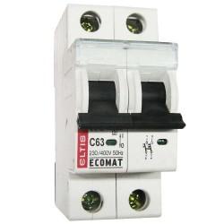 Автоматический выключатель ЕСОМАТ С 2p 63А 10kA
