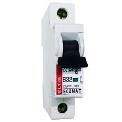 Автоматический выключатель ЕСОМАТ В 1p 32А 10kA