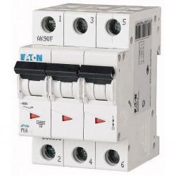 Автоматический выключатель Eaton (Moeller) PL6-C16/3 (286601)
