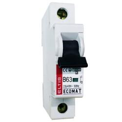 Автоматический выключатель ЕСОМАТ В 1p 63А 6kA