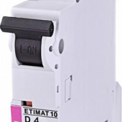 Авт. вимикач ETIMAT 10 1p D 4A (10kA) 2151710