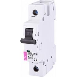 Автоматический выключатель  ETIMAT 10 1p D 10A