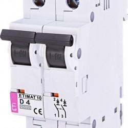 Авт. вимикач ETIMAT 10 2p D 4A (10kA) 2153710