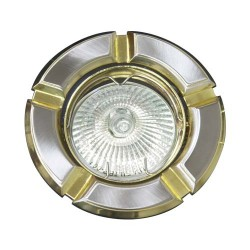 098Т Світильник,МR-16  титан-золото,круглий