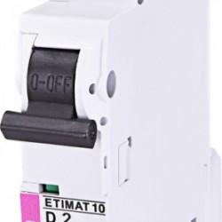 Авт. вимикач ETIMAT 10 1p D 2A (10kA) 02151708