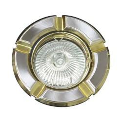 098 Світильник, R-50  титан-золото,круглий