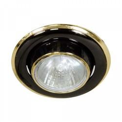 Встраиваемый светильник Feron 301 R-50 E14 черный золото