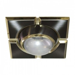 098 Світильник, R-50-S  чорне-золото,квадрат