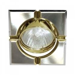 098Т Світильник,МR-16-S  титан-золото,квадрат
