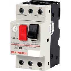 Автоматический выключатель защиты двигателя 0,63-1А