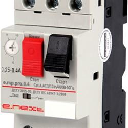 Автоматический выключатель защиты двигателя 0,25-0,4А