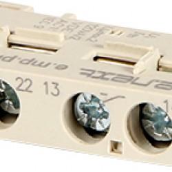 Блок контактов фронтальный к АЗД (0,4-32) e.mp.pro.ae11: 1NO+1NC