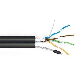 FTP(РЕ) Cat 5e СU наруж.кабель чорний