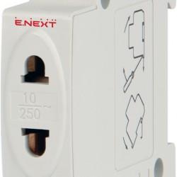 Розетка на DIN-рейку e.socket.stand.din, 230 В без з/к