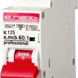Автоматический выключатель e.mcb.pro.60.1.K 125 new, 1p, 125А, K, 6кА new