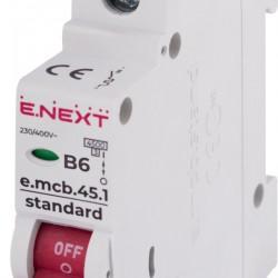 Автоматический выключатель e.mcb.stand.45.1.B6 1п 6А В