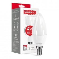 Лампа LED C37 CL-F 4W E14 3000K 220V 1-LED-5311