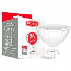 Лампа  MR16 8W 4100K GU5.3  220V 1-LED-514