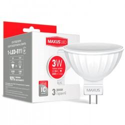 Лампа MR16 3W 3000K GU5.3 220V 1-LED-511
