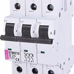 Авт. вимикач ETIMAT 10 3p  D 25А (10kA) 2155718