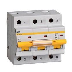 Автоматический выключатель IEK ВА 47-100 3п С 16А