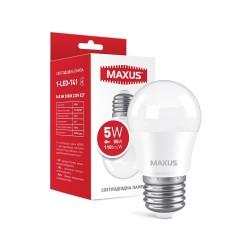 Лампа G45 5W 3000K 220V E27 1-LED-741
