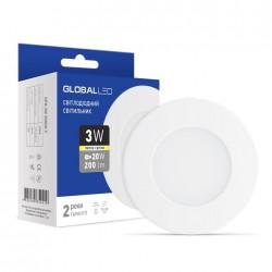 LED светильник GLOBAL SPN 3W 3000K теплый свет (1-SPN-001-С)