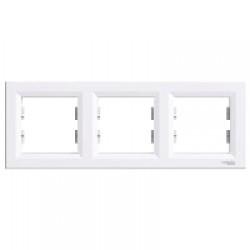 Рамка тройная Schneider Electric Asfora горизонтальная Белая (EPH5800321)