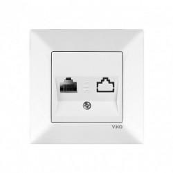 Розетка VIKO Meridian белая компьютерная (90970032)
