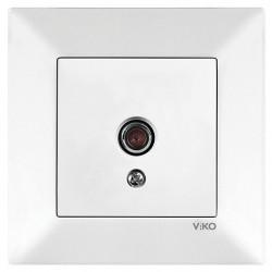 Розетка ТВ проходная VIKO Meridian Белая (90970010)