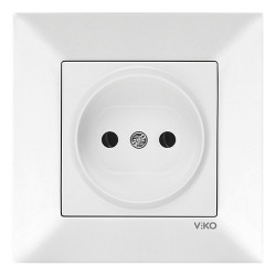 Розетка VIKO Meridian белая 1-на без заземления (90970007)