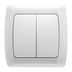 Выключатель VIKO Carmen белый 2 клавишный (90561002)