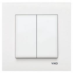 Выключатель VIKO 2-клавишный белый Karre (90960002)