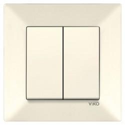 Выключатель 2-клавишный VIKO Meridian Крем (90970202)