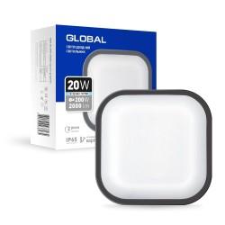 Антивандальный LED-светильник GLOBAL GBH 08 20W 5000K графит (квадрат)