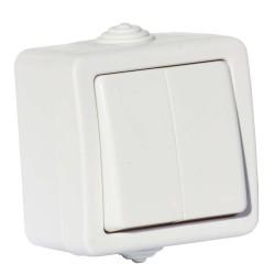 Выключатель 2 клавишный Aquatіc ІР44 белый