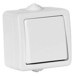 Выключатель 1 клавишный Aquatіc ІР44 белый