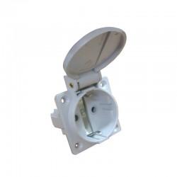 Гнездо врезное Аско ГВ 16А/2 (220В) 2Р+РЕ (312) белое