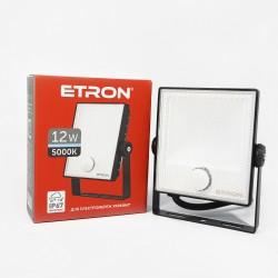 Прожектор LED ETRON Spotlight Power 1-ESP-222 12W 5000K с датчиком движения