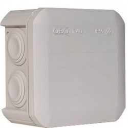 Коробка распределительная Obo Bettermann T40, 90х90х52, IP55, светло серая, с кабельными вводами