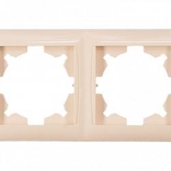 Рамка 2-я горизонтальная Luxel PRIMERA кремовая (3322)